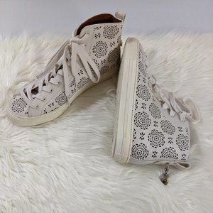 NEW Coach High Top Chalk Flower Sneakers